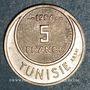 Coins Tunisie. Mohammed al -Amine, bey (1362-76H). 5 francs 1954. Essai