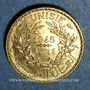 Coins Tunisie. Mohammed al -Amine, bey (1362-76H). 50 cmes 1945. Essai piéfort