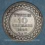 Coins Tunisie. Mohammed En-Naceur (1324-1340H). 10 centimes 1908A