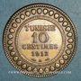 Coins Tunisie. Mohammed En-Naceur (1324-1340H). 10 centimes 1912A