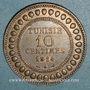 Coins Tunisie. Mohammed En-Naceur (1324-1340H). 10 centimes 1914A