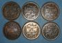 Coins Tunisie. Mohammed En-Naceur (1324-1340H). 5 centimes 1908-1912-1914-1916-1917 (2X)