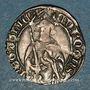 Coins Aquitaine. Edouard IV le Prince Noir (1362-1372). Hardi. La Rochelle. Variété inédite