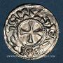 Coins Champagne. Comté de Sens. Renaud II (1012-1055). Denier