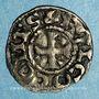 Coins Comté d'Anjou. Foulques V (1109-1129). Obole immobilisée