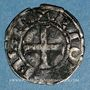 Coins Comté d'Auvergne. Alphone de Poitiers (1241-1271). Denier. Riom