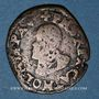 Coins Comté de Bourgogne. Albert et Isabelle (1598-1621). Double denier 1599. Dôle. Au nom de Philippe II