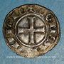 Coins Comté de Provence. Charles I d'Anjou (1246-1285). Denier provençal coronat (1277-1285)