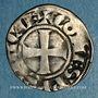 Coins Comté de Provence. Charles I d'Anjou (1246-1285). Denier provençal coronat. Saint-Rémy (1266-1277)