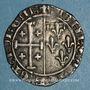 Coins Comté de Provence. Louis II (1384-1417). Sol coronat ou gros à la couronne. Tarascon (1414-1417)
