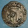 Coins Comté du Roussillon. Philippe II d'Espagne (1556-1598). Double sol 1598. Perpignan