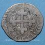 Coins Duché de Savoie. Charles Emmanuel I (1580-1630). Soldo, 2e type, 1584. Chambéry