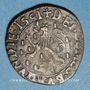 Coins Franche Comté. Comté de Bourgogne. Philippe II (1556-1598). Double denier, 1591. Dôle