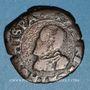 Coins Franche Comté. Comté de Bourgogne. Philippe II (1556-1598). Double denier, 1595. Dôle
