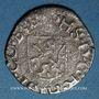 Coins Franche Comté. Comté de Bourgogne. Philippe II (1556-1598). Liard 1562 (= 1/2 blanc). Dôle
