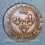 Coins Principauté de Dombes. Gaston d'Orléans (1627-50). Double tournois 1634