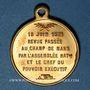 Coins Guerre de 1870-1871. A. Thiers, revue passée au Champ de Mars 1871. Médaille cuivre jaune. 23,4 mm