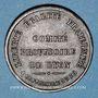 Coins Guerre de 1870-1871. Comité Provisoire de Lyon. Médaille bronze. 29,6 mm