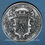 Coins Guerre de 1870-1871. Formation de la 5e légion de marche. Médaille étain. 45,8 mm