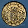 Coins Guerre de 1870-1871. L'armée du Nord réorganisée et massée autour de Lille. Médaille étain doré