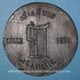 Coins Guerre de 1870-1871. Lille, Impôt sur la bière. Médaille étain cuivré. 71 mm