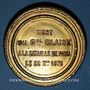 Coins Guerre de 1870-1871. Mort du général Blaise. Médaille étain doré. 42,2 mm