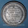 Coins Guerre de 1870-1871. Pouyer-Quertier, ministre des finances. Médaille étain. 46 mm
