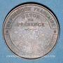 Coins Guerre de 1870-1871. Siège de Paris. Médaille cuivre rouge. 33,9 mm
