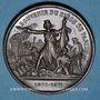 Coins Guerre de 1870-1871. Siège de Paris. Médaille cuivre rouge. 37 mm