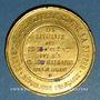Coins Guerre de 1870-71. Souvenir de la guerre contre la Prusse. Etain doré. 46 mm