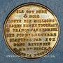 Coins Révolution de 1848. 23 juin. Dissolution des ateliers nationaux. Médaille cuivre jaune. 28 mm