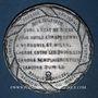 Coins Révolution de 1848. Arrestation des auteurs de l'attentat. Médaille étain coulé. 46,3 mm