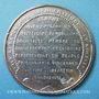 Coins Révolution de 1848. Arrestation des auteurs de l'attentat. Médaille étain coulé. 46 mm