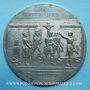 Coins Révolution de 1848. Chute de la Royauté. Médaille étain. 90 mm
