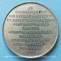 Coins Révolution de 1848. Commémoration des journées de févier. Médaille étain. 45 mm