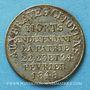 Coins Révolution de 1848. Commémoration des journées de février. Médaille cuivre argenté. 24,5 mm
