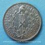 Coins Révolution de 1848. Commémoration des journées de février. Médaille cuivre blanchi. 24,7 mm
