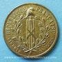 Coins Révolution de 1848. Commémoration des journées de février. Médaille cuivre jaune. 24,7 mm