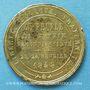 Coins Révolution de 1848. Commémoration des journées de février. Médaille cuivre jaune. 25,3 mm