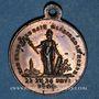 Coins Révolution de 1848. Commémoration des journées de février. Médaille cuivre rouge. 23,5 mm