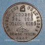 Coins Révolution de 1848. Commémoration des journées de février. Médaille cuivre rouge. 33,79 mm