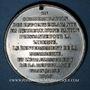 Coins Révolution de 1848. Commémoration des journées de février. Médaille étain. 45 mm