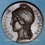 Coins Révolution de 1848. Concours armé des départements. Médaille cuivre. 37 mm