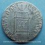 Coins Révolution de 1848. Décret sur le traitement des représentants. Médaille plomb. 22 mm