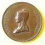 Coins Révolution de 1848. Fête de la Concorde. Médaille cuivre rouge. 26 mm