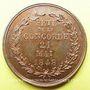 Coins Révolution de 1848. Fête de la Concorde. Médaille cuivre rouge. 27,8 mm