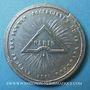 Coins Révolution de 1848. Fête de la Constitution. Banquets. Médaille étain coulé. 38 mm