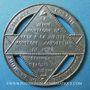 Coins Révolution de 1848. Fête de la Constitution. Médaille étain. 42 mm