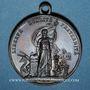 Coins Révolution de 1848. Fraternisation des gardes nationales. Médaille bronze. 35 mm
