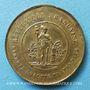 Coins Révolution de 1848. Fraternisation des gardes nationales. Médaille cuivre jaune. 23,7 mm